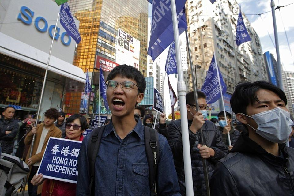 Tony Chung was arrested in Hong Kong last month. Photo: AP