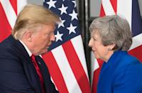 May put on a brave face this week when hosting US President Donald Trump for a state visit (AFP Photo/Stefan Rousseau)