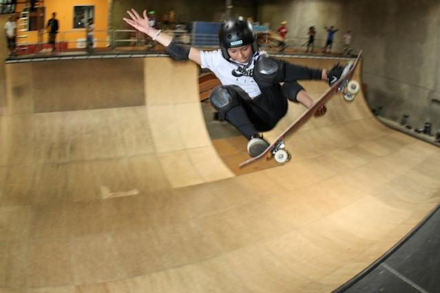 FILE PHOTO: Skateboarding during the outbreak of the coronavirus disease (COVID-19) in California
