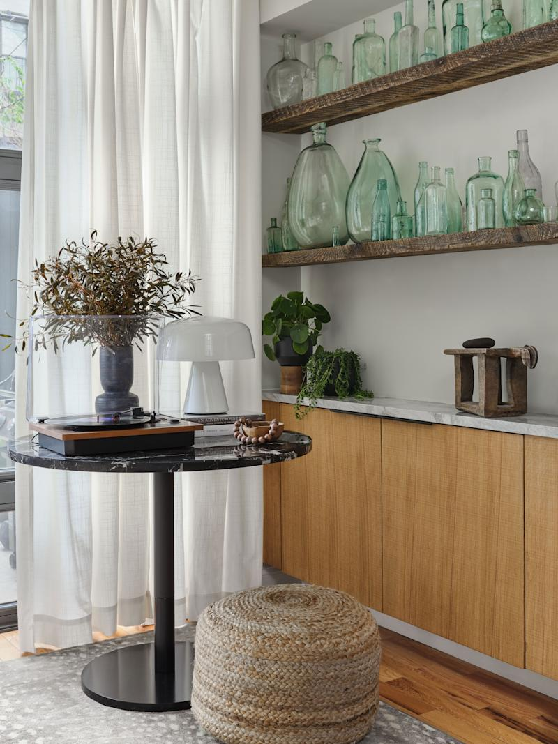 The goal of the home's design was to create a Brooklyn-meets-Mediterranean vibe with some bohemian influences.