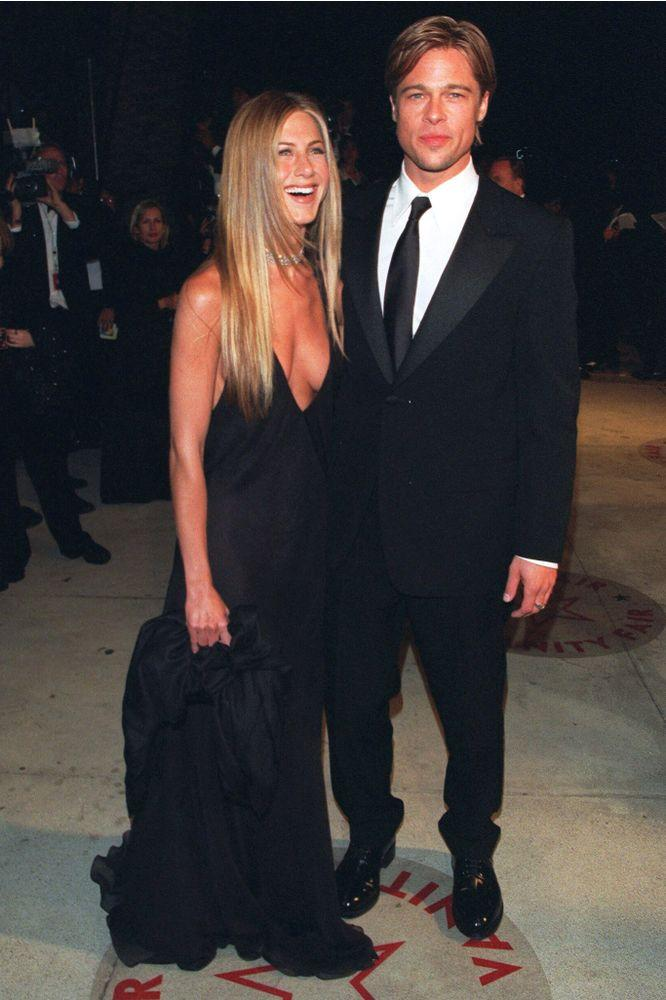 Jennifer Aniston and Brad Pitt in March 2000