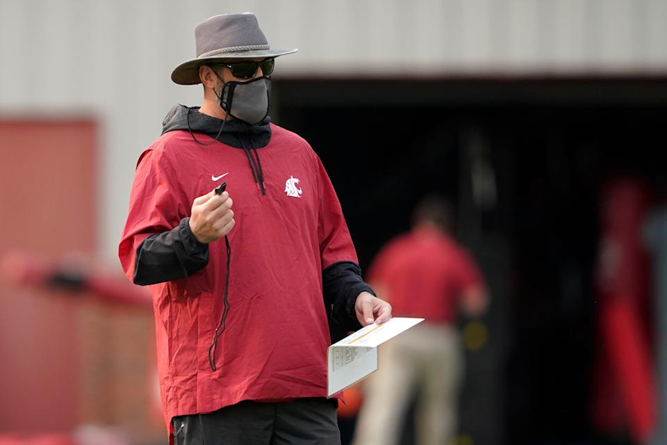 Washington State coach Nick Rolovich led the team to a 1-3 record after the start of the 2020 season was delayed until November because of the pandemic.