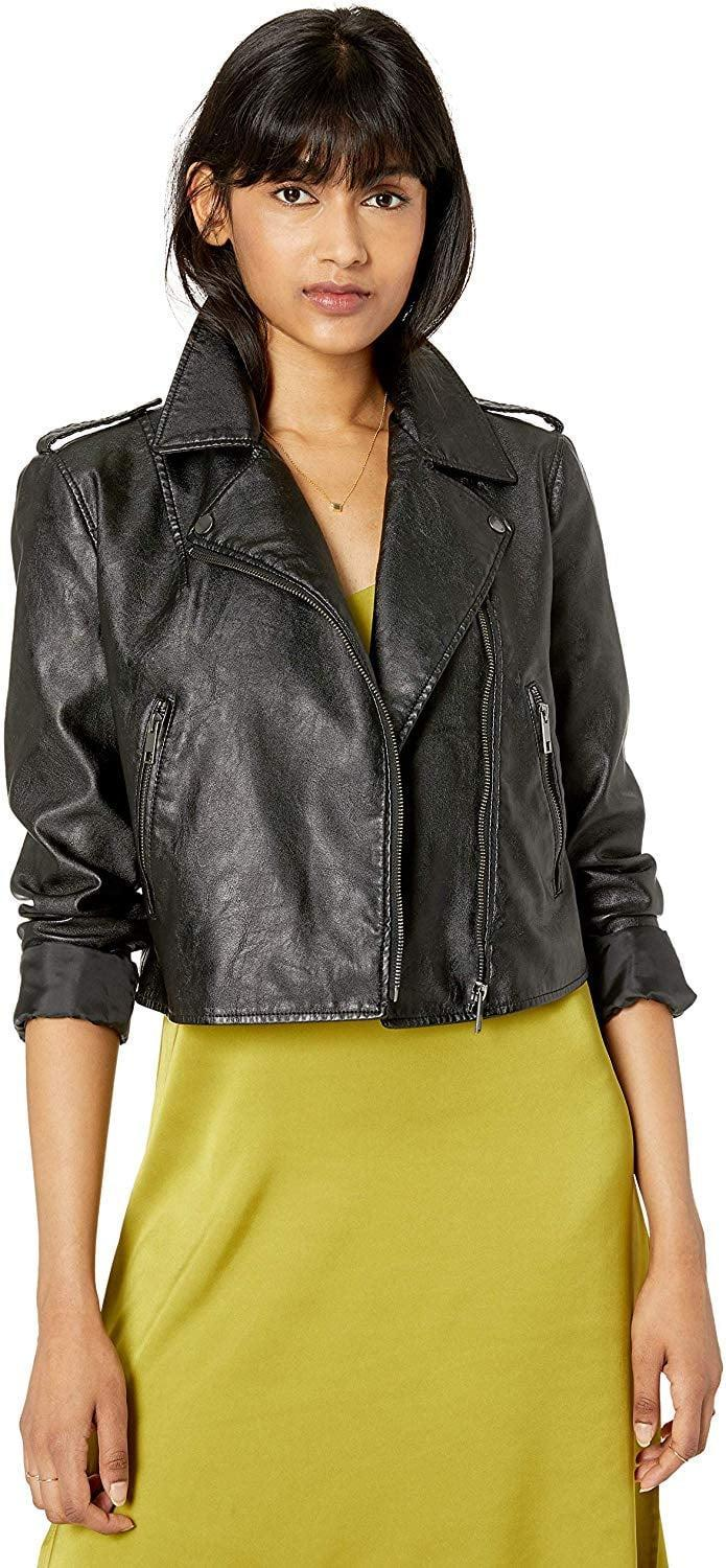 <p>Everyone needs a classic like this <span>The Drop Carmen Faux Leather Moto Jacket</span> ($80).</p>