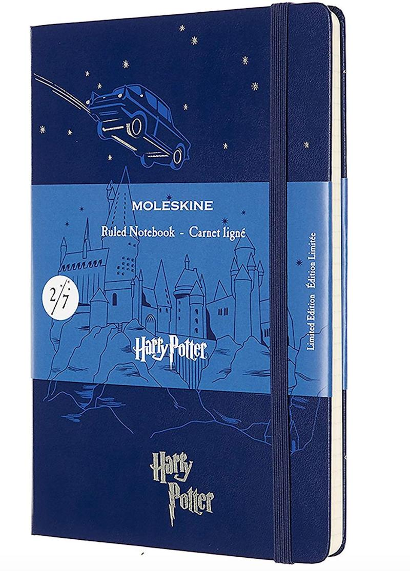 """<a href=""""https://fave.co/2qjRl2B"""">Moleskine A5 Limited Edition Flying Car Harry Potter Notebook, John Lewis,</a> &pound;23 (Photo: Huffington Post UK )"""