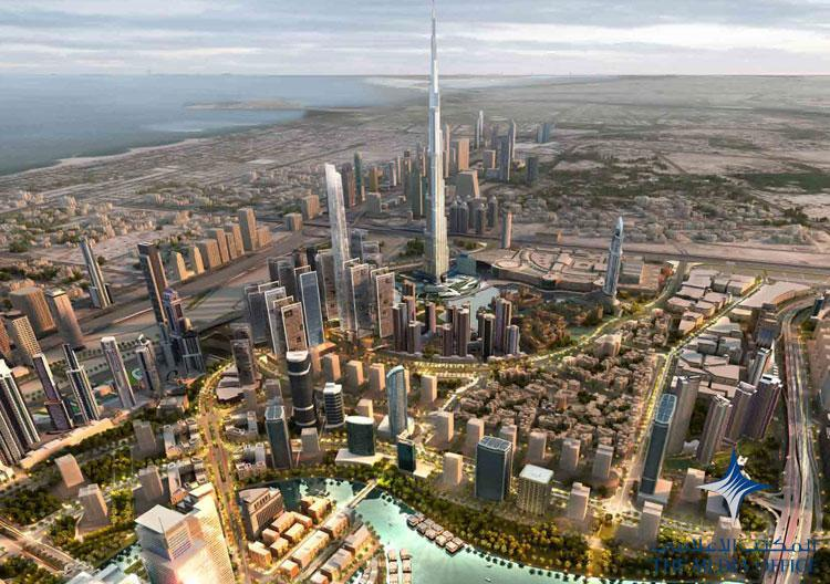 Artist's illustration of the grand Mohammed Bin Rashid City project. Artist impression provided by The Media Office, Dubai