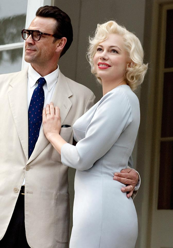 """For her role in """"Blue Valentine,"""" Oscar winner Michelle Williams gained 15 pounds, and then added weight once again to play Marilyn Monroe in """"My Week with Marilyn."""" """"I wasn't watching what I ate, let's put it that way,"""" she said of her journey to recreate Monroe's size-14 figure."""