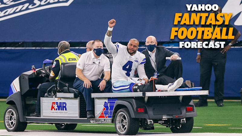 Dak Prescott's season came to an abrupt end after a devastating ankle injury.
