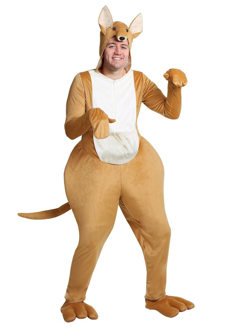 """Yes, this <a href=""""https://www.halloweencostumes.com/kangaroo-adult-costume.html"""" target=""""_blank"""">kangaroo costume</a> is ridiculous and accentuates the badonkadonk in a manner some might find unflattering. But before you start hating, please note one thing: That there pouch is pretty decent for holding small amounts of contraband. We'll wait while you go online to order."""