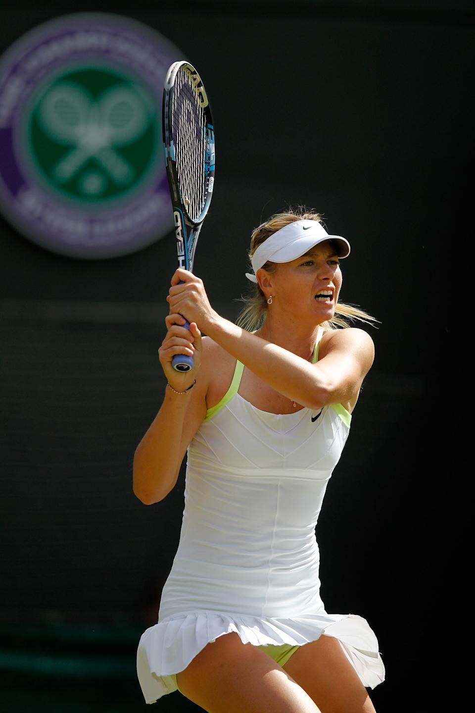 Former Wimbledon Champion Maria Sharapova has a distinct honor in London. She is the first female to carry the flag for Russia or the former Soviet Union.