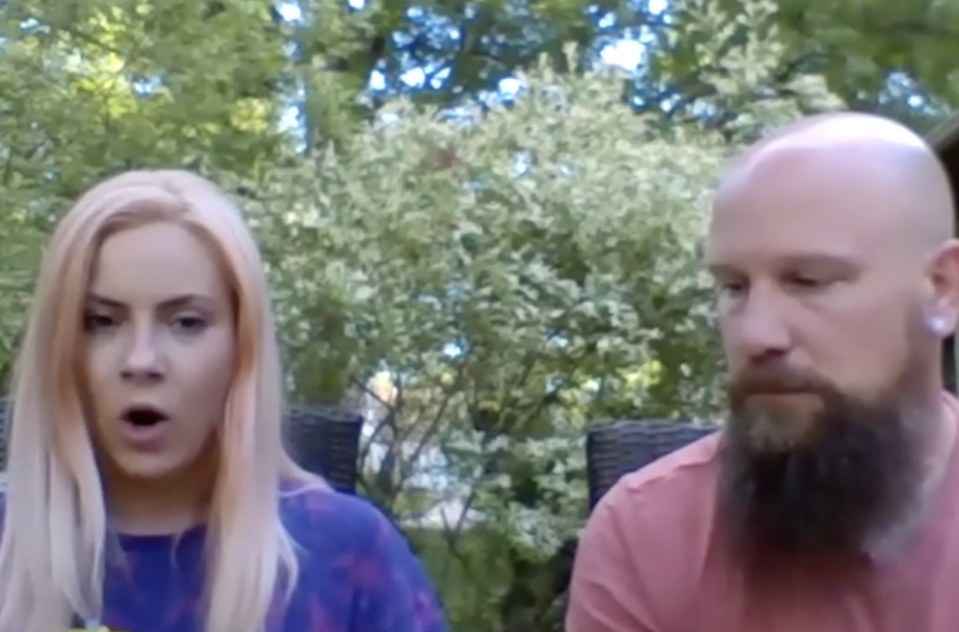 Misty and Jason Laska are seen discussing the pizza incident.