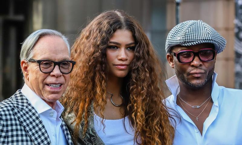 Tommy Hilfiger, Zendaya and Law Roach at the Apollo.
