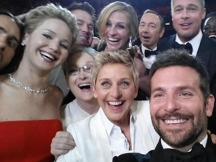 DeGeneres' selfie with celebrities was a viral moments from the 2014 Oscars.
