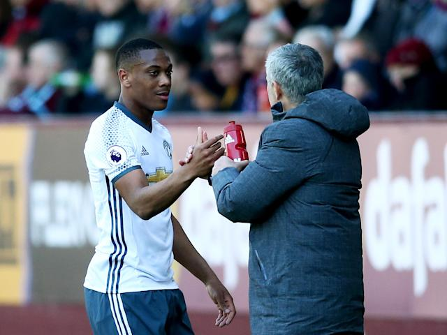 Martial showed the sort of form which he had throughout last season: Getty