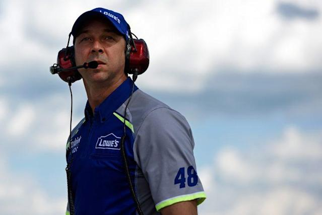 "Chad Knaus has been <a class=""link rapid-noclick-resp"" href=""/nascar/sprint/drivers/213/"" data-ylk=""slk:Jimmie Johnson"">Jimmie Johnson</a>'s crew chief for all seven of his titles. (Getty)"