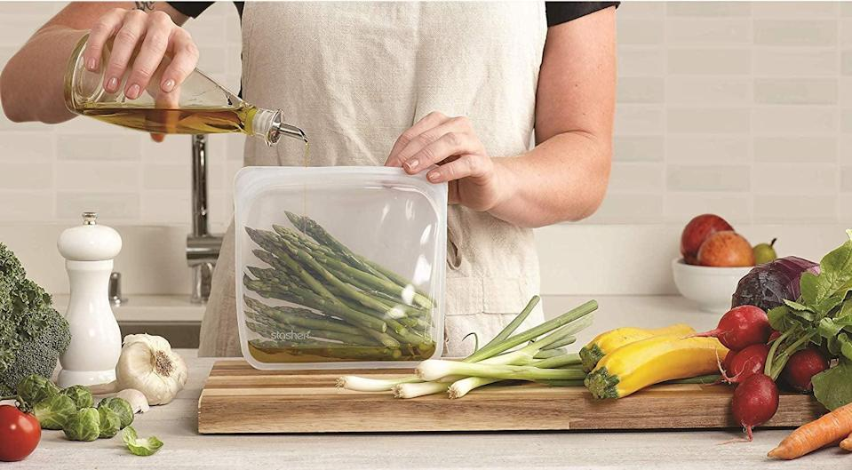 <p>Go plastic-free this year with these <span>Stasher Reusable Silicone Food Bags</span> ($12). They come in tons of colors and are great for cooking.</p>