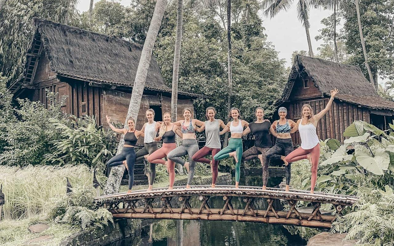 "<p>If you're interested in the magic of ritual and sound healing, this is the perfect setting to experience it. Under the guidance of Lululemon ambassador and <a href=""https://annieclarke.com/retreat-1"">yoga instructor Annie Clarke</a> and her team of local guest teachers and healers, you'll enjoy twice daily mindful yoga and meditation classes overlooking the jungle, as well as optional workshops and transformational ceremonies. The schedule is curated with the intention to create a safe, supportive, and nurturing environment in a private luxury villa, providing ample free time to explore Ubud's nature and culture when you're off the mat.</p> <p><em>March 28th - April 4th, from $2,120</em></p>"