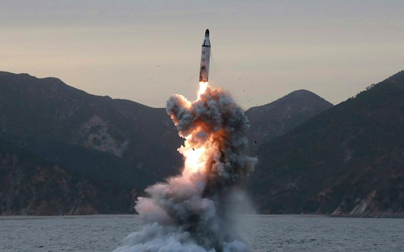 A North Korean ballistic missile test - KCNA