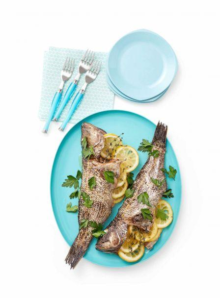 PHOTO: Whole Roasted Fish by Alex Guarnaschelli's 12-year-old daughter, Ava. (Ralph Smith / Food Network Magazine)