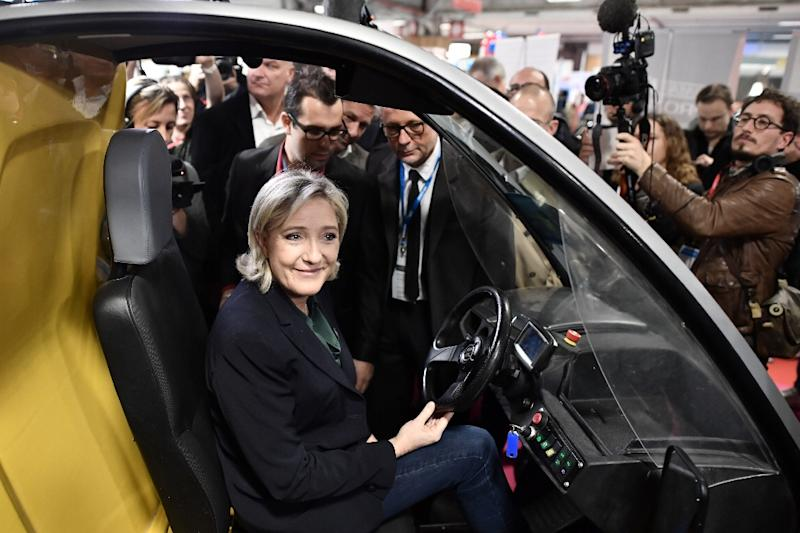 France's Front National presidential election candidate Marine Le Pen is attempting to shed the party's racist image (AFP Photo/Philippe Lopez)
