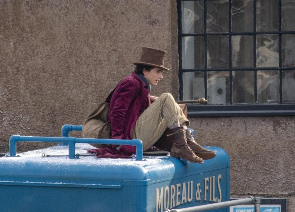 <p>There are some striped high socks hiding under those brown boots of his, too, further adding to the costume's overall eccentric feel.</p>