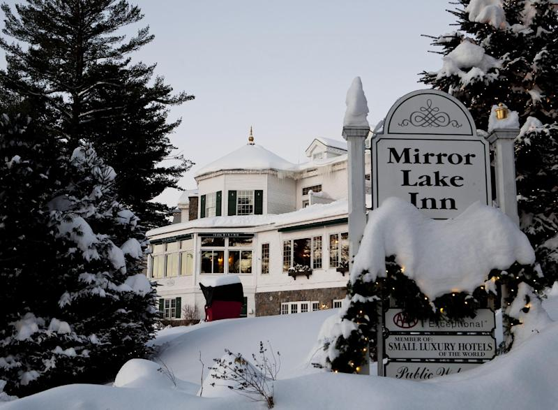 This 2011 photo provided by the Mirror Lake Inn, shows the inn in Lake Placid, N.Y., which is known for excellent hospitality and has received numerous awards, including AAA Four Diamond awards and honors from Conde Nast Traveler magazine. The inn was founded in the 1920s as Mir-a-Lac, was renamed Mirror Lake Inn in 1933 and has been owned by Ed and Lisa Weibrecht since 1976. (AP Photo/Mirror Lake Inn/Shaun Ondak)