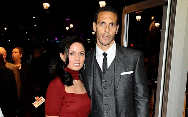 <span>Rio Ferdinand and his wife Rebecca, who lost her battle with cancer in 2015</span> <span>Credit: PA  </span>
