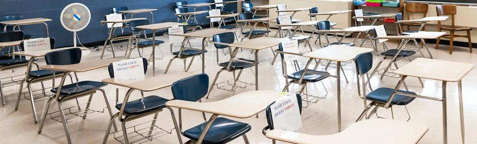 """<span class=""""caption"""">When children return to schools in the fall, measures to protect them from COVID-19 must be taken/</span> <span class=""""attribution""""><span class=""""source"""">(Shutterstock)</span></span>"""