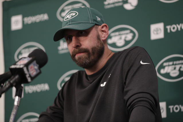 Jets head coach Adam Gase is on the hot seat after a 1-7 start in his first season with the team. (AP Photo/Lynne Sladky)