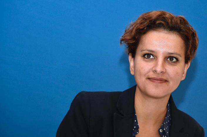 """French Education Minister Najat Vallaud-Belkacem has accused the major of Chalon-sur-Saone of """"taking children hostage"""" with his ban on non-pork school meals (AFP Photo/Dominique Faget)"""