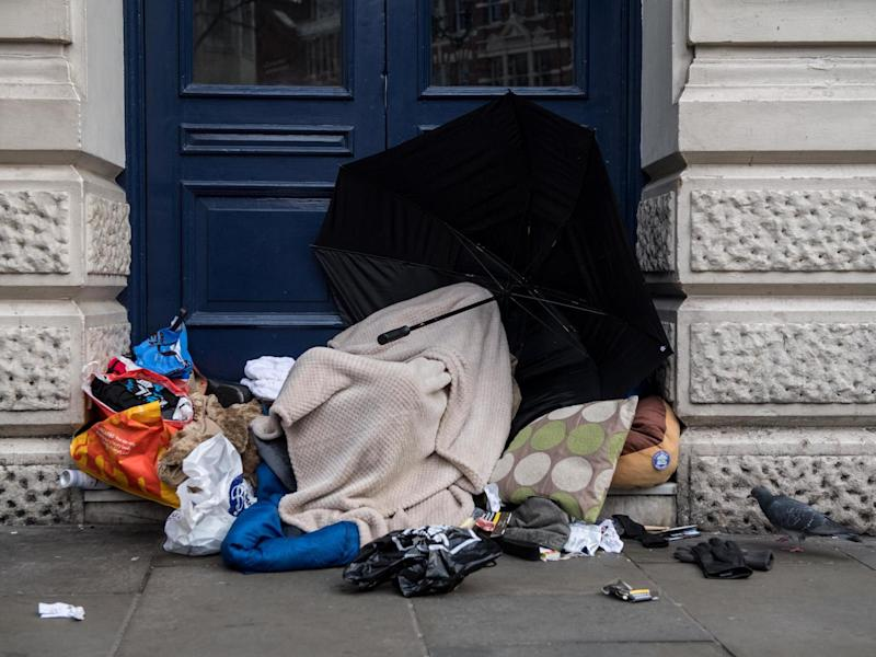 The number of people sleeping rough in the UK doubled between 2012 and 2017: Getty
