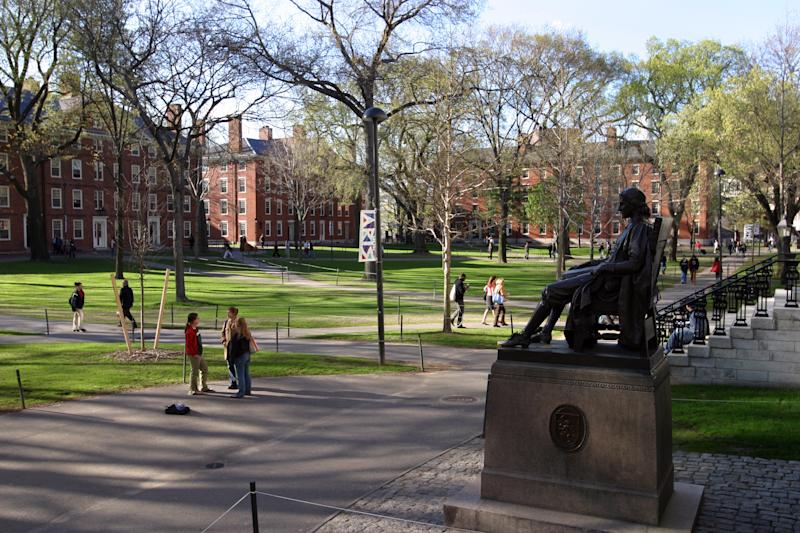 John Harvard statue at Harvard University. (Rick Friedman/Corbis/Getty Images)
