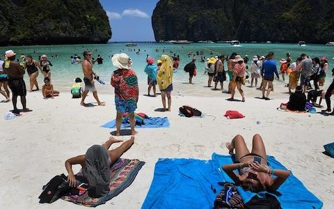 Maya Bay became hugely popular after appearing in the film, The Beach - Credit: Getty