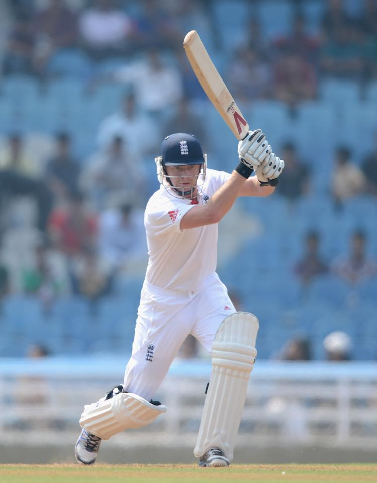 MUMBAI, INDIA - NOVEMBER 03:  Jonathan Bairstow of England bats during day one of the tour match between Mumbai A and England at The Dr D.Y. Palit Sports Stadium on November 3, 2012 in Mumbai, India.  (Photo by Gareth Copley/Getty Images)