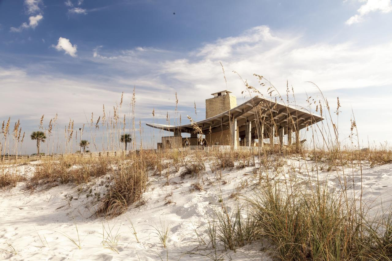 """<p>At the eastern end of Gulf Shores, this <a href=""""https://www.alapark.com/Gulf-State-Park-Beaches"""" target=""""_blank"""">gem of a state park</a> holds 3.5 miles of beautiful and undeveloped white-sand beaches. A fishing and education pier right on the beach, plus access to the state park's 28 miles of paved trails for hiking and biking, a nature center and outdoor classroom, a 900-acre fishing lake, guided nature walks, paddle boarding , and kayaking add to the spoils. Finally, the stunning new, eco-forward <a href=""""https://www3.hilton.com/en/hotels/alabama/the-lodge-at-gulf-state-park-a-hilton-hotel-PNSLGHH/index.html"""" target=""""_blank"""">Lodge at Gulf State Park, a Hilton Hotel,</a> makes Gulf State Park a true destination.</p>"""