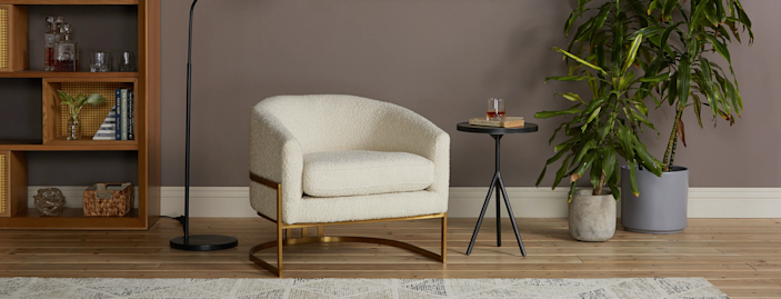 """<h3><strong>Joybird</strong></h3> <br><br><strong>Best For: Custom Furniture </strong><br>Not only does Joybird offer a range of midcentury-inspired pieces you can customize in a variety of fabrics and colors, it's also an amazing place for design inspo. Customers are encouraged to submit images of just how they've styled their own unique Joybird pieces. You can scroll through the gallery feed, or filter by product or fabric if you're interested in seeing a specific piece.<br><br><strong><em><a href=""""https://joybird.com/"""" rel=""""nofollow noopener"""" target=""""_blank"""" data-ylk=""""slk:Shop Joybird"""" class=""""link rapid-noclick-resp"""">Shop Joybird</a></em></strong><br><br><strong>Joybird</strong> Nola Accent Chair, $, available at <a href=""""https://go.skimresources.com/?id=30283X879131&url=https%3A%2F%2Fjoybird.com%2Fchairs%2Fnola-accent-chair%2F"""" rel=""""nofollow noopener"""" target=""""_blank"""" data-ylk=""""slk:Joybird"""" class=""""link rapid-noclick-resp"""">Joybird</a><br><br><br><br><br>"""