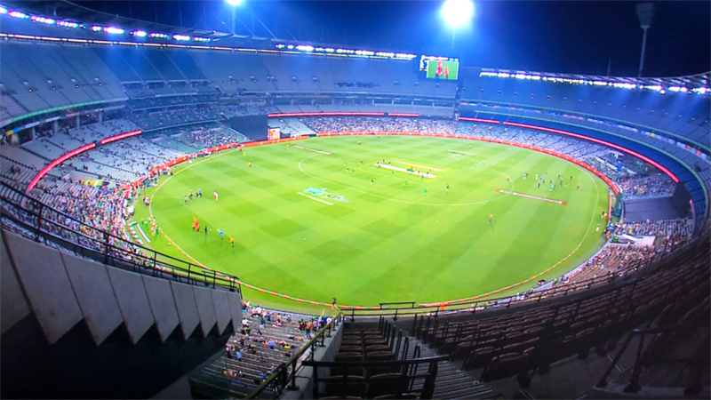 The paltry crowd, pictured here at the MCG for the Big Bash preliminary final.