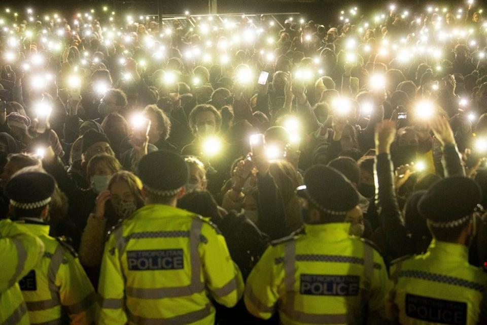 The vigil was held days after Sarah Everard's murder (PA) (PA Wire)