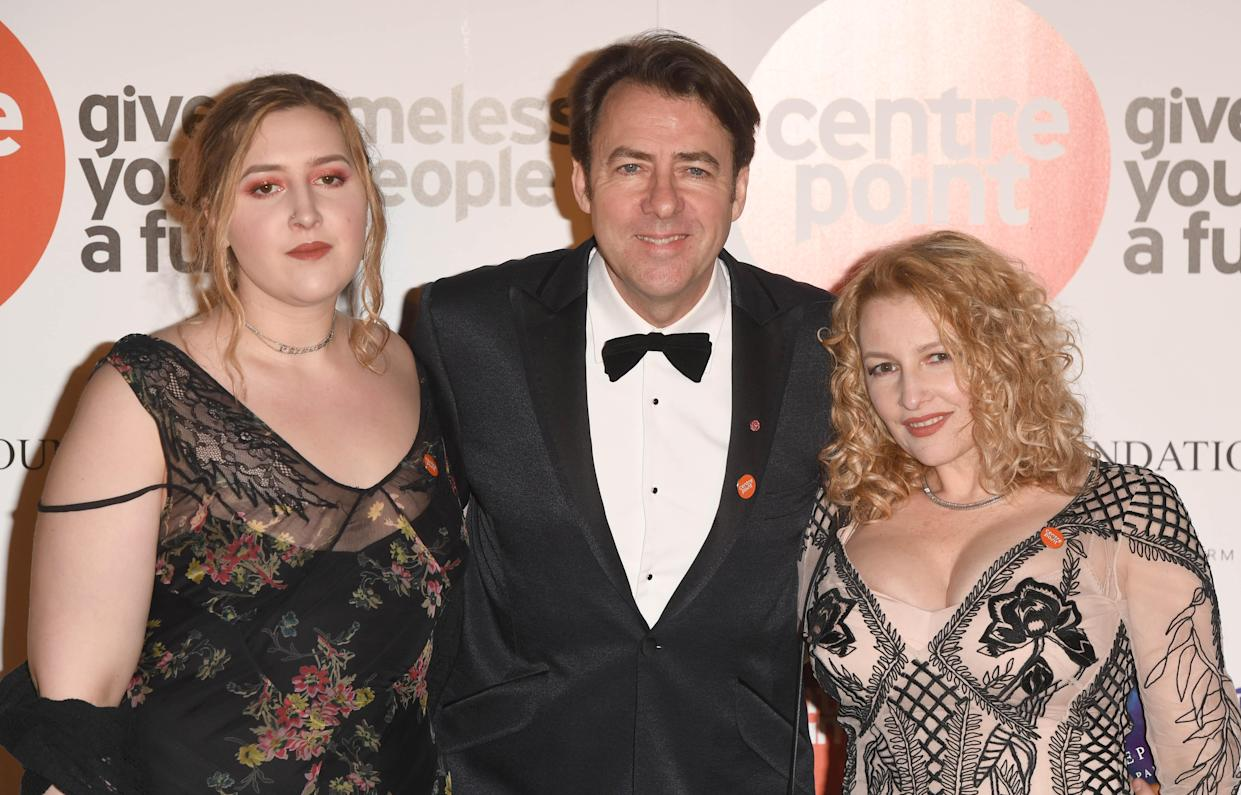 LONDON, ENGLAND - NOVEMBER 10:  Honey Ross, Jonathan Ross and Jane Goldman attend Centrepoint At The Palace at Kensington Palace on November 10, 2016 in London, England.  (Photo by Stuart C. Wilson/Getty Images)