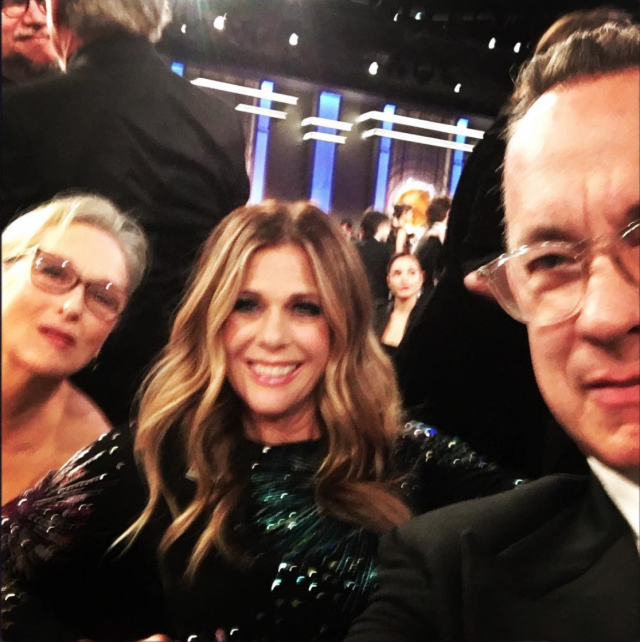 Rita Wilson shared a photo from <em>The Post</em> table. (Photo: Rita Wilson via Instagram)