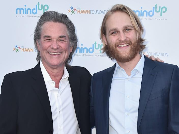 Kurt Russell and Wyatt Russell attend Goldie Hawn's Annual Goldie's Love In For Kids on May 06, 2016.