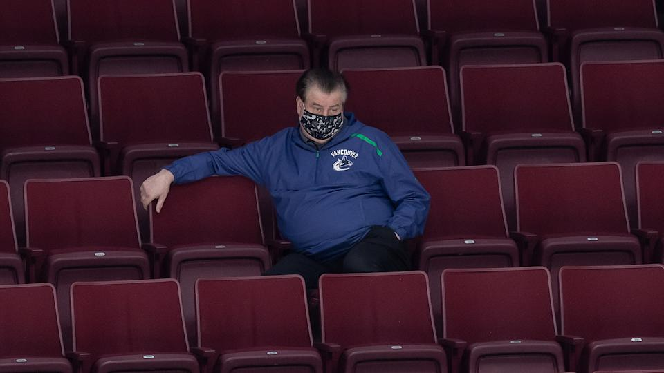 Jim Benning is on the hot seat in Vancouver. (THE CANADIAN PRESS/Darryl Dyck)