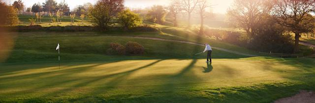 A twilight round without having to wait on the group ahead.