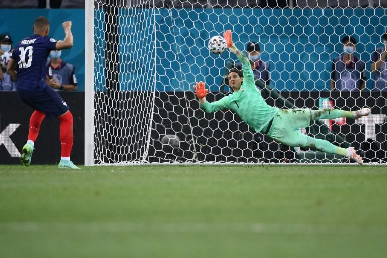 Yann Sommer saves Kylian Mbappe's penalty to send Switzerland through to the Euro 2020 quarter-finals at the expense of France