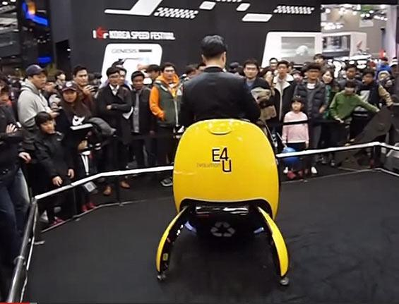 The egg is entitled the E4U – standing for Egg, Evolution, Electricity and Eco-friendliness. The result of an annual invention contest among Hyundai engineers in South Korea, the odd-egg was designed as a potential future of personal mobility: It can travel up to speeds just shy of 20 mph, weighs 176 lbs. (sounds mobile to me), and boasts a 24V battery attached to a 500W electric motor.
