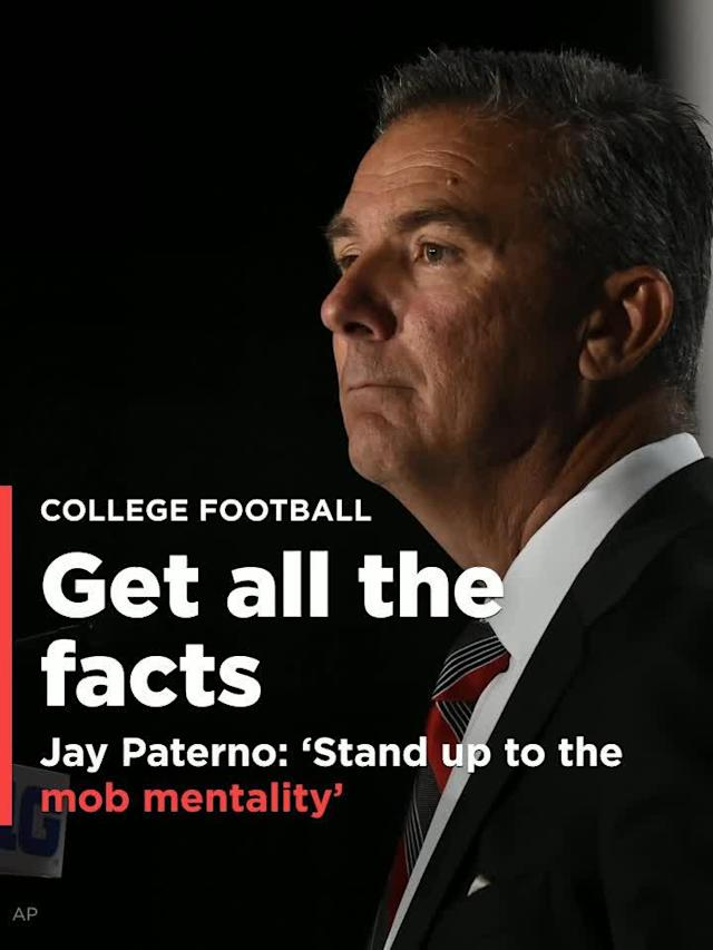 Jay Paterno, the son of legendary Penn State head coach Joe Paterno, has weighed in regarding the Urban Meyer situation at Ohio State.