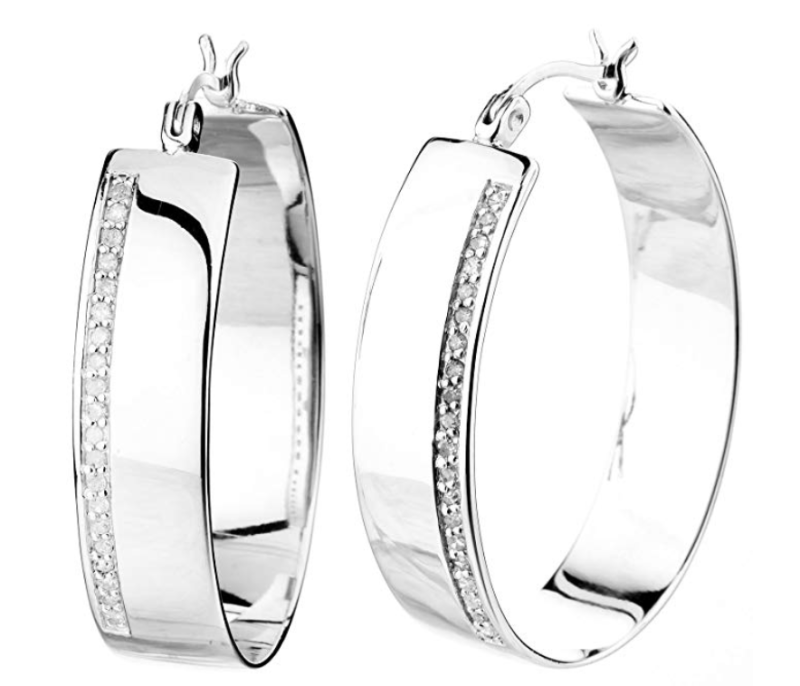 Vir Jewels 1/4 cttw Diamond Hoop Earrings. (Photo: Amazon)