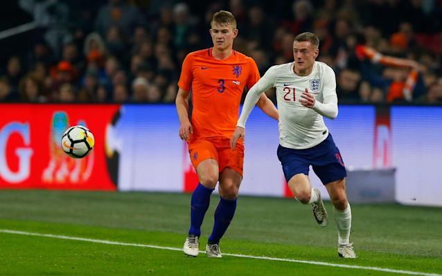 "Jamie Vardy is set to start for England against Italy on Tuesday night, despite admitting he failed to touch the ball during his 22-minute substitute appearance against Holland. England manager Gareth Southgate started with Marcus Rashford and Raheem Sterling up front in Amsterdam as he looks at alternatives to Harry Kane, who is injured. Vardy replaced Rashford in the 68th minute of England's 1-0 victory over Holland, but, incredibly, did not touch the ball once during his time on the pitch. The 31 year-old thought it was the first time in his career, dating back to his non-League days, that he had spent a significant period of time on the pitch without managing to touch the ball at all. Asked if he had touched the ball, Vardy said: ""No! It's probably never happened to me before, but I did a lot of running. If Harry Kane misses out... ""I came on at a time that Holland were trying to get a goal back. As a striker, you do sometimes have to sacrifice yourself and we just want to make sure we attack as a team and defend as a team, so I had to help out the midfield as well."" When a reporter joked that by not touching the ball he could not be accused of making any mistakes and that his work off the ball must have been really good, Vardy added: ""Exactly. That's a good point. I'll take that!"" Vardy's inability to touch the ball in Amsterdam is unlikely to change Southgate's plan to start the Leicester City star against Italy at Wembley. ""I'm hopeful I'll play, but it's up to the boss what formation he plays and which players he wants to pick, so we'll have to wait and see,"" said Vardy. Kane's absence has given Vardy and the rest of the England strikers a chance to stake their claims ahead of the World Cup in Russia and Southgate's decision to start with a front two against Holland has given them further encouragement that places are still up for grabs. England's World Cup 2018 squad - ranked. Who's on the plane to Russia? ""Above all it's encouraging for the entire team,"" said Vardy. ""Going into tournaments you don't want to have just one plan. It gives us options and the performance we put in against Holland shows we can play different formations and we might have to use that in the World Cup."" England have only scored three goals in their last five games, during which time they have not scored more than once in a single match. But Vardy is currently on a hot streak of form, having netted seven times in his last nine Leicester appearances. ""I just give 100 per cent in every game and keep getting my goals and, hopefully, that will continue until the end of the season and get me selected for the World Cup squad,"" said Vardy. ""But you don't take anything for granted. I hope that first and foremost I'm playing well for Leicester to give me a chance. The past nine games I've been getting the goals and long may that continue. Hopefully, it will continue until the end of the season."" Jamie Vardy (right) is ready to step up when called Credit: ACTION IMAGES In terms of England's problems in front of goal, Vardy added: ""We're still progressing. We want to make sure that, as against Holland, we are solid. Keeping clean sheets is always good because with the attackers we've got there are goals in the team to get us the victories."" Vardy's extraordinary personal journey from non-League was one of the highlights of Leicester's Premier League title success, but he still hopes the World Cup could provide another chapter to his story. ""That's what I always wanted to do (play in a World Cup),"" said Vardy. ""So I just make sure I knuckle down every time I get the chance to play and, hopefully, I'll make it. ""You've always got to look forward to a World Cup. Qualifying for them is difficult. We've got ourselves there and now it's all about getting ourselves right for the start of the tournament. ""I think every single country that's qualified for the World Cup will have expectations. You'll get it from fans and from the media. But, first and foremost, we need to concentrate on our game, what we do and how we can improve and make it better."""