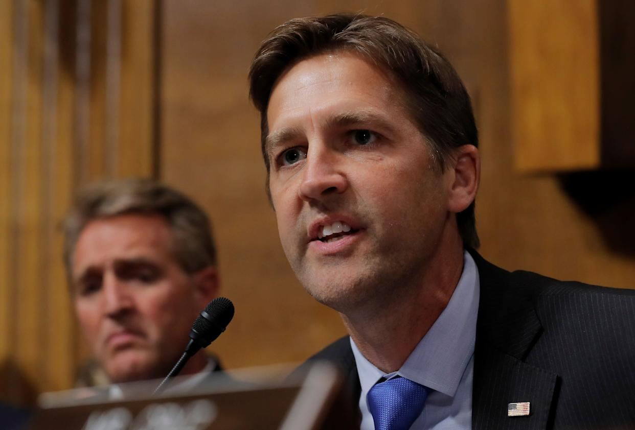 Sen. Ben Sasse (R-Neb.) says he'd urged President Donald Trump last summer to nominate a woman for the Supreme Court seat. (Photo: Jim Bourg/Reuters)