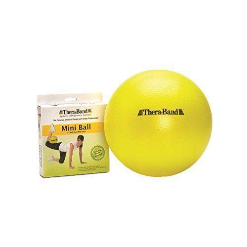 """<p><strong>TheraBand</strong></p><p>amazon.com</p><p><strong>$14.49</strong></p><p><a href=""""https://www.amazon.com/dp/B008DIFJT8?tag=syn-yahoo-20&ascsubtag=%5Bartid%7C2140.g.33524030%5Bsrc%7Cyahoo-us"""" rel=""""nofollow noopener"""" target=""""_blank"""" data-ylk=""""slk:Shop Now"""" class=""""link rapid-noclick-resp"""">Shop Now</a></p><p>If you like taking your workouts to the park or beach, this mini ball is easy to travel with, and despite its size, it's helpful for toning all your major muscle groups from your core to your legs. If you need some inspo, just use the exercise poster that's included. </p>"""
