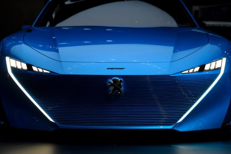 A Peugeot Instinct concept car at the Geneva International Motorshow, which was abuzz with talk of PSA's acquisition of Opel, the European subsidiary of General Motors